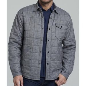 Untuckit grey schiepetto quilted Shirt Jacket